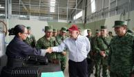 AMLO supervisa mudanza de fábrica de armas del Ejército a Puebla