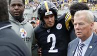 Video: Mason Rudolph, de los Steelers, sufre una conmoción cerebral