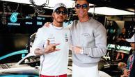 Video: El hijo de Cristiano Ronaldo 'maneja' el carro de Lewis Hamilton