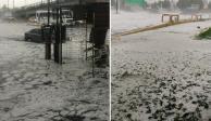 VIDEO: Tormenta deja inundaciones y granizo en Iztapalapa