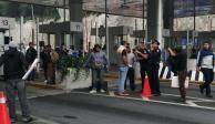 Bloquean policías federales caseta de La Marquesa