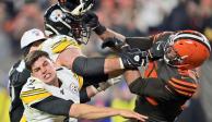 Browns sorprende a Steelers en duelo empañado por pelea