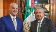 Se reúne AMLO con director de la petrolera italiana ENI