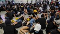 Aeropuerto de Hong Kong cancela todos los vuelos por protestas