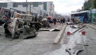 Revolvedora se queda sin frenos y provoca carambola en la México-Toluca