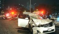 Salta muro de contención, provoca carambola y muere en Miguel Hidalgo