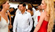 Captan a EPN y a Tania Ruiz en una boda en Acapulco