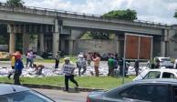 VIDEO: Camión que transportaba cerveza choca y desata rapiña en Mérida