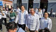 Gobernador de Tabasco y embajador de EU participan en macrosimulacro