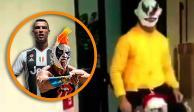 Cristiano Ronaldo se disfraza de ... ¿Psycho Clown? (VIDEO)