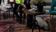 VIDEO: Pedro Sola sufre bochornosa caída en programa en vivo