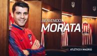 Atlético de Madrid oficializa el fichaje de Álvaro Morata