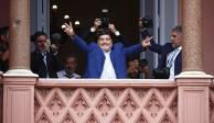 Maradona se reúne con Alberto Fernández en la Casa Rosada