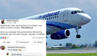 Investigan a piloto de Interjet que sugirió arrojar bomba al Zócalo