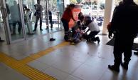 FOTOS: A balazos roban y hieren a cuentahabiente en Ejército Nacional