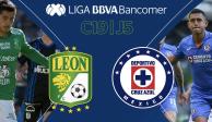 En duelo de contrastes, León vence 2-0 a Cruz Azul