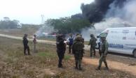 Fuerza Aérea Mexicana perseguía a avioneta incendiada en Veracruz