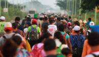 Nueva caravana de migrantes avanza de Tapachula a Tijuana