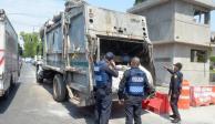 Hallan cuerpo de recién nacido en camión de basura en Tlalnepantla