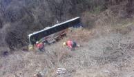 Autobús turístico cae a barranco en Guerrero; hay 24 heridos