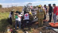 Sube a 11 número de muertos en accidente carretero en Chiapas (FOTOS)