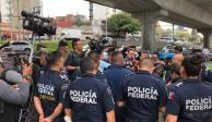 Sigue afectación vial sobre Periférico por protesta de policías federales