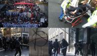 Diez mil asistentes, 14 heridos y 3 detenidos, en marcha del 2 de octubre