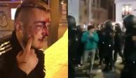 Suman 13 heridos en Madrid por agresionesentre policías y manifestantes