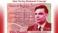 Matemático Alan Turing, la nueva imagen del billete de 50 libras