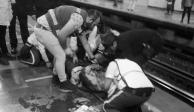 Mujer recibe impacto en la cabeza al rebasar línea amarilla en Metro