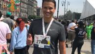 Aarón Galindo corre el Maratón de la Ciudad de México