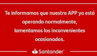 Tras fallas, app de Santander normaliza servicios digitales