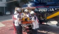 En Polanco, 3 hombres caen desde 20 metros de altura de un edificio