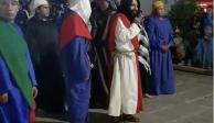 VIDEO: Personifican a Jesús en Tlaxcala... ¿en estado de ebriedad?