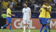Messi y Argentina fueron eliminados por Brasil, quien jugará la final en casa