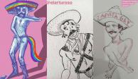"""Ilustradores se unen para apoyar """"Zapata gay"""" y hacen sus propias versiones (FOTOS)"""