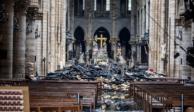 Protegen la catedral de Notre Dame, ahora de las lluvias