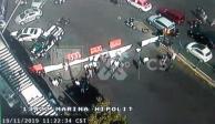 Suma más de 6 hrs caos en Marina Nacional por plantón de 20 personas