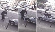 VIDEO: Usuario de scooter es atropellado con un automóvil en la colonia Roma