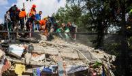 La tarde del 19-S de 2017 en el Multifamiliar Tlalpan
