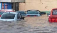 Fresnillo bajo el agua: lluvias inundan calles y arrastran coches