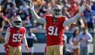 San Francisco mantiene invicto en NFL con triunfo de 20-7 sobre Carneros