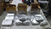 Decomisan en AICM 9 paquetes de precursor químico para fabricar fentanilo