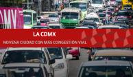 Ciudad de México, noveno lugar en congestión vial del mundo