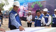 Gobernador de Tamaulipas supervisa construcción de edificio del DIF