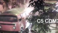 Mañana inquieta en la CDMX: volcadura, incendio de vehículo y 2 choques