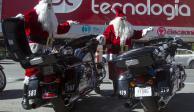 Espíritu navideño llega a Tránsito de Monterrey y patrullan ¡de Santa Claus!