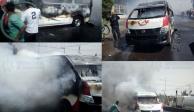 Detienen a dos por quemar unidad del transporte público en Ecatepec