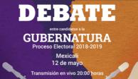Este domingo realizarán segundo debate para gobernatura de BC