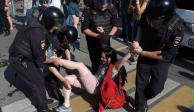 FOTOS: Protesta en Moscú deja casi mil 400 detenidos